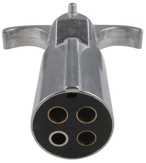 small resolution of pollak heavy duty 4 pole round pin trailer wiring connector pollak heavy duty