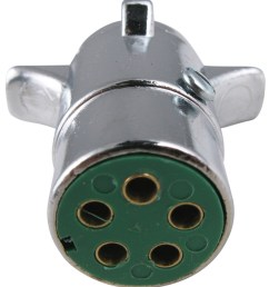 pollak 5 pole round pin trailer wiring connector chrome trailer end pollak wiring pk11501 [ 906 x 1000 Pixel ]