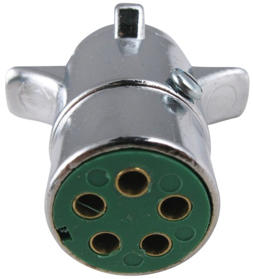 small resolution of pollak 5 pole round pin trailer wiring connector chrome trailer end pollak wiring pk11501