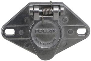Pollak 6Pole, Round Pin, Trailer Wiring Socket  Vehicle