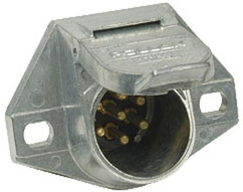 medium resolution of pollak heavy duty 7 pole round pin trailer wiring socket vehicle