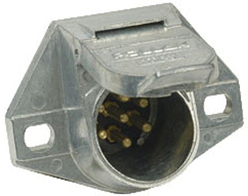hight resolution of pollak heavy duty 7 pole round pin trailer wiring socket vehicle