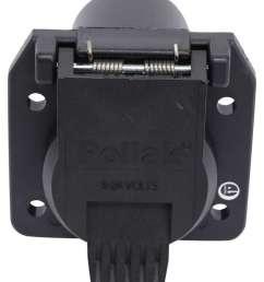 pollak black plastic 7 pole rv blade style trailer socket vehicle end pollak wiring pk12 707e [ 799 x 1000 Pixel ]