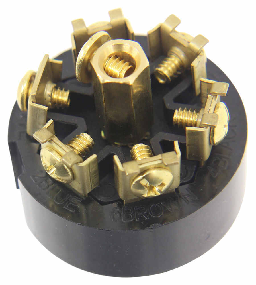 hight resolution of pollak black plastic 7 pole rv style trailer connector trailer end pollak wiring pk12706