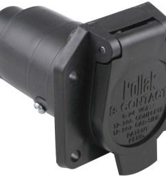 pollak 9 pole round pin trailer socket vehicle end pollak wiring pk12907 [ 1000 x 893 Pixel ]