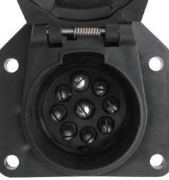 pollak 9 pole round pin trailer socket vehicle end pollak wiring pk12907 [ 1000 x 978 Pixel ]
