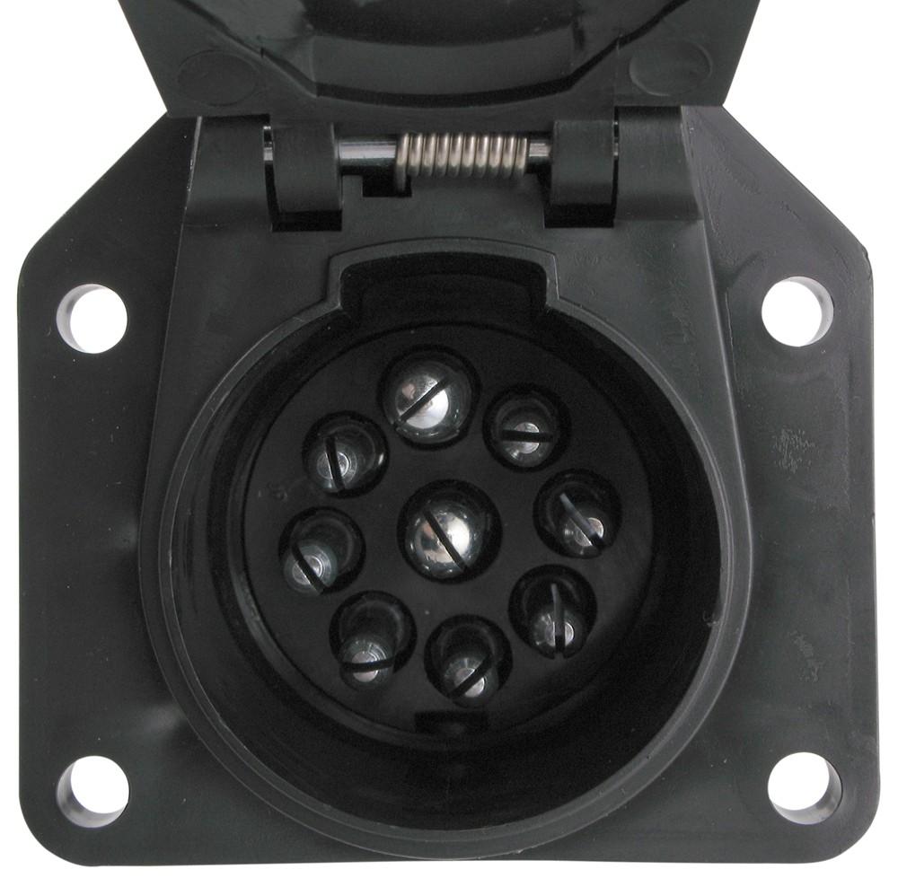 hight resolution of pollak 9 pole round pin trailer socket vehicle end pollak wiring pk12907