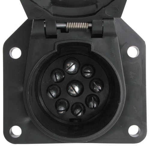 small resolution of pollak 9 pole round pin trailer socket vehicle end pollak wiring pk12907