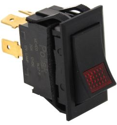 universal design rocker switch spst on off 12 volt 20 amp 4 blade red pilot light pollak accessories and parts pk34310 [ 991 x 1000 Pixel ]