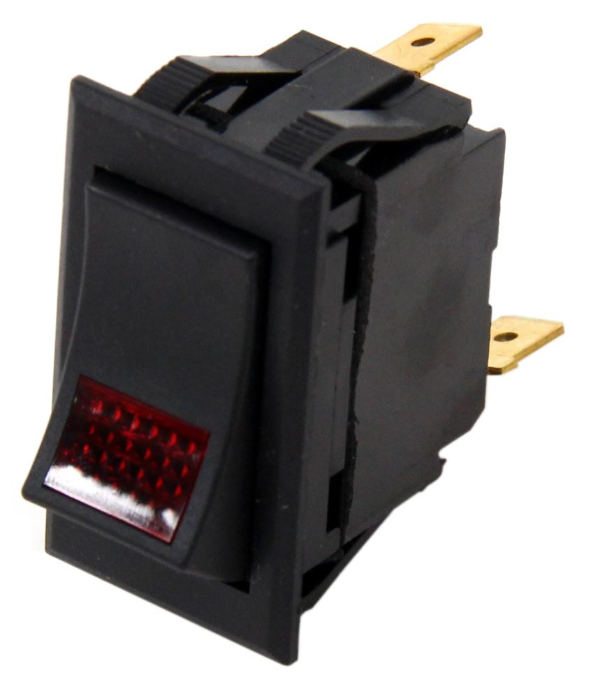 hight resolution of universal design rocker switch spst on off 12 volt 20 amp 3 blade red pilot light pollak accessories and parts pk34360