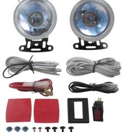 driving light kit halogen round 3 1 2 diameter clear lens qty 2 optronics off road lights qh 85cd [ 818 x 1000 Pixel ]