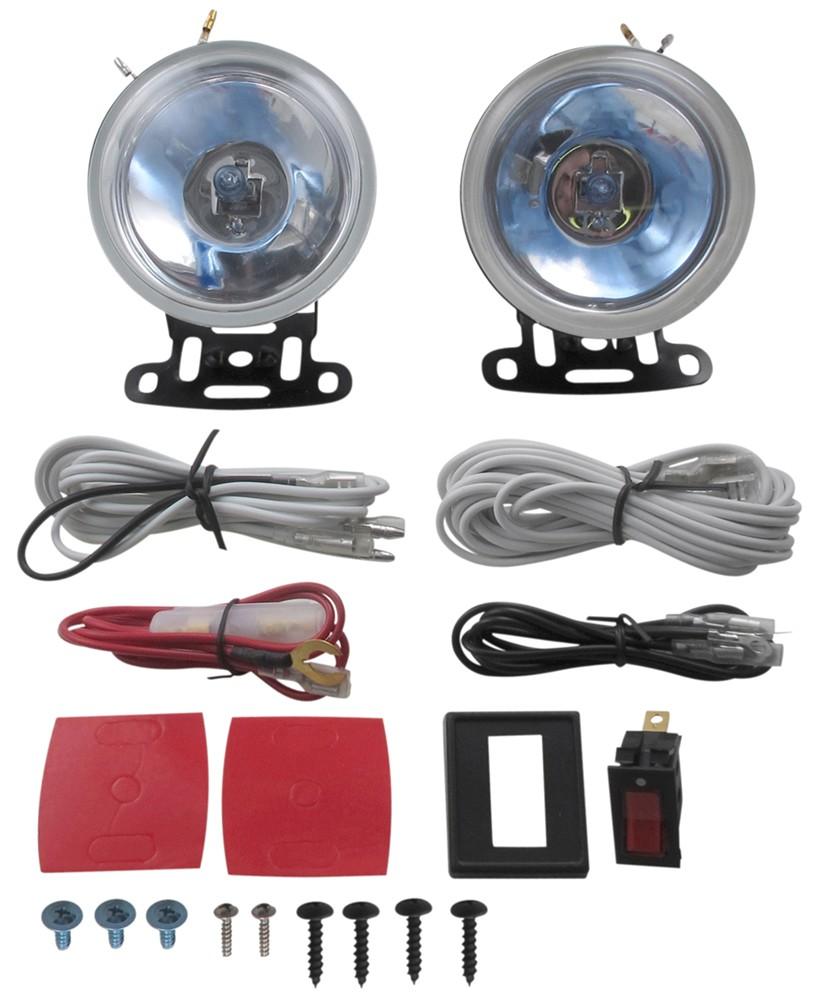 medium resolution of driving light kit halogen round 3 1 2 diameter clear lens qty 2 optronics off road lights qh 85cd