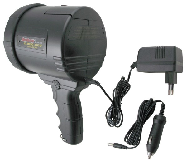 2-million-cp Spotlight - Dual Power Rechargeable With 12-volt Dc And 220-volt Ac Chargers
