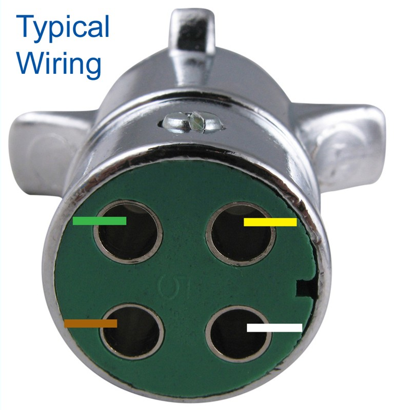 4 Round Trailer Connector Wiring