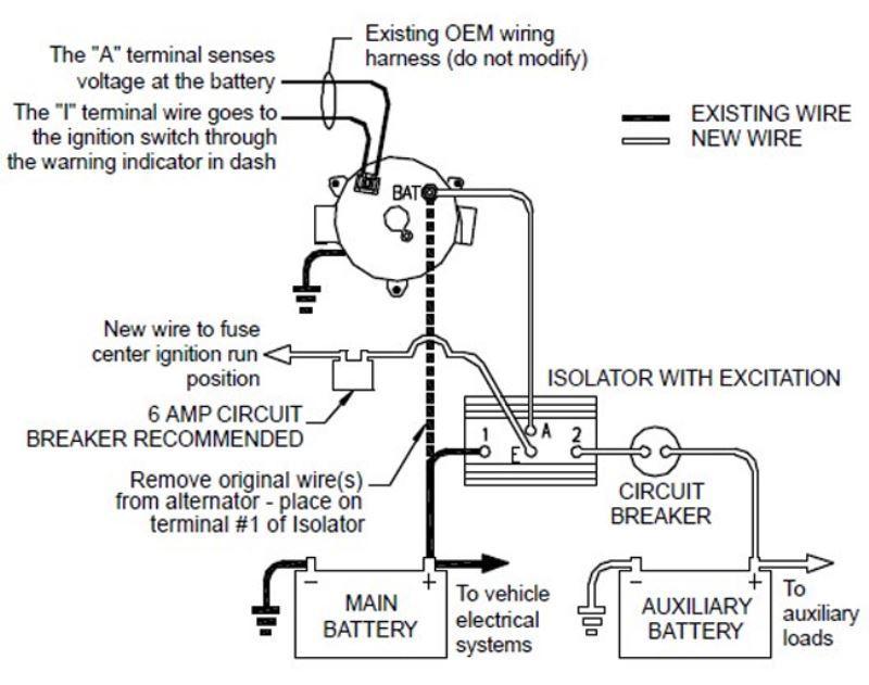 gm cs alternator wiring diagram telemecanique contactor for deka 95-amp battery isolator # dw08770   etrailer.com
