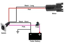horse trailer electric brakes wiring diagram delco remy 24 volt alternator for switch to landing gear motor of lg 142178