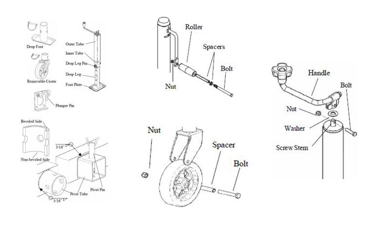 Wiring Diagram: 33 Bulldog Trailer Jack Parts Diagram