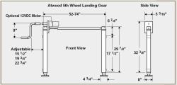 Replacement Lead Leg For Atwood Landing Gear On 2003 Jayco