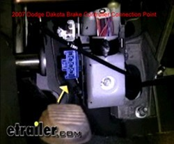 2008 Dodge Ram 1500 Fuse Box Location Of The Factory Brake Controller Plug In Location