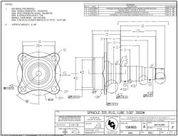 Dimensions of the Lubed Straight Spindle with Brake Flange