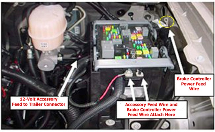 2005 Sienna Fuse Box Installing Aftermarket Brake Controller On 2012 Gmc Sierra