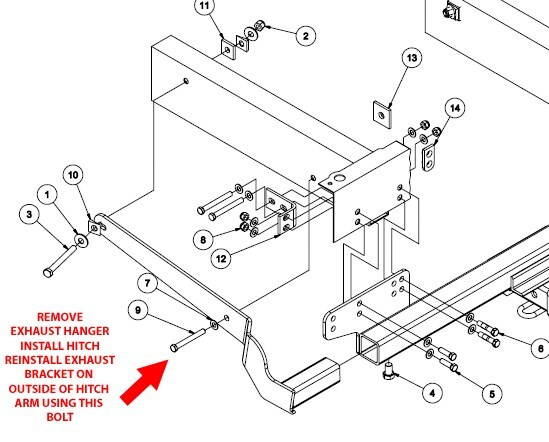 Exhaust Hanger Interference When Installing Curt Class III