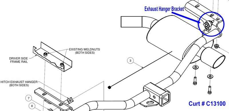 Installation Help With Re-Installing Exhaust With Curt