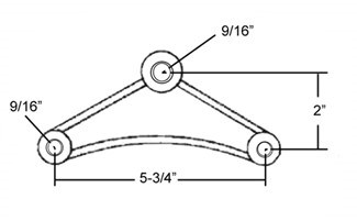 Cushioned Equalizer Kit for a Tandem Axle Trailer Trailer