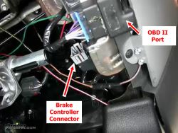 Location of Brake Controller Connector on 2005 Ford F150 | etrailer
