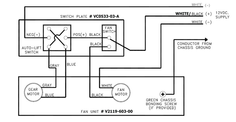 Need Wiring Instructions for Wall Remote Switch # VC0533
