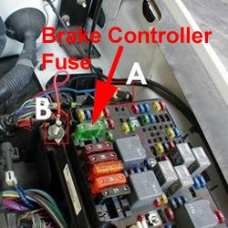 Fuse Location for Trailer Brake Controller on a 2005 Chevy
