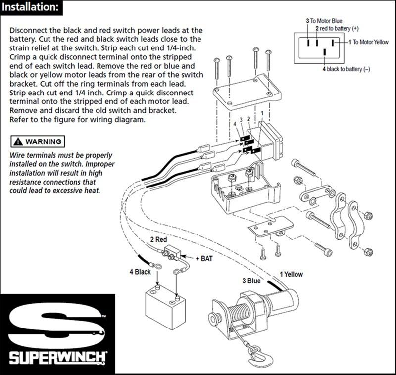 ramsey winch solenoid wiring diagram star delta control circuit quadboss www toyskids co get free image about 12 volt atv
