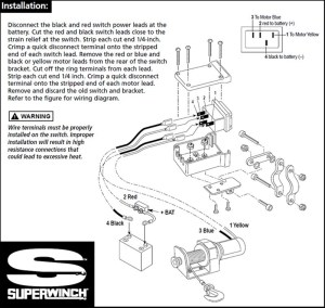Replacement Switch For Older Model Superwinch Electric