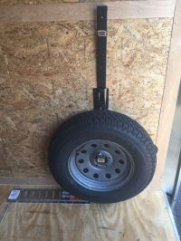 Spare Tire Rack for Enclosed Trailers Rackem Spare Tire ...