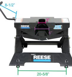 reese 5th wheel trailer hitch w wiring harness dual jaw 22 000 lbs reese fifth wheel rp30033 [ 1000 x 945 Pixel ]