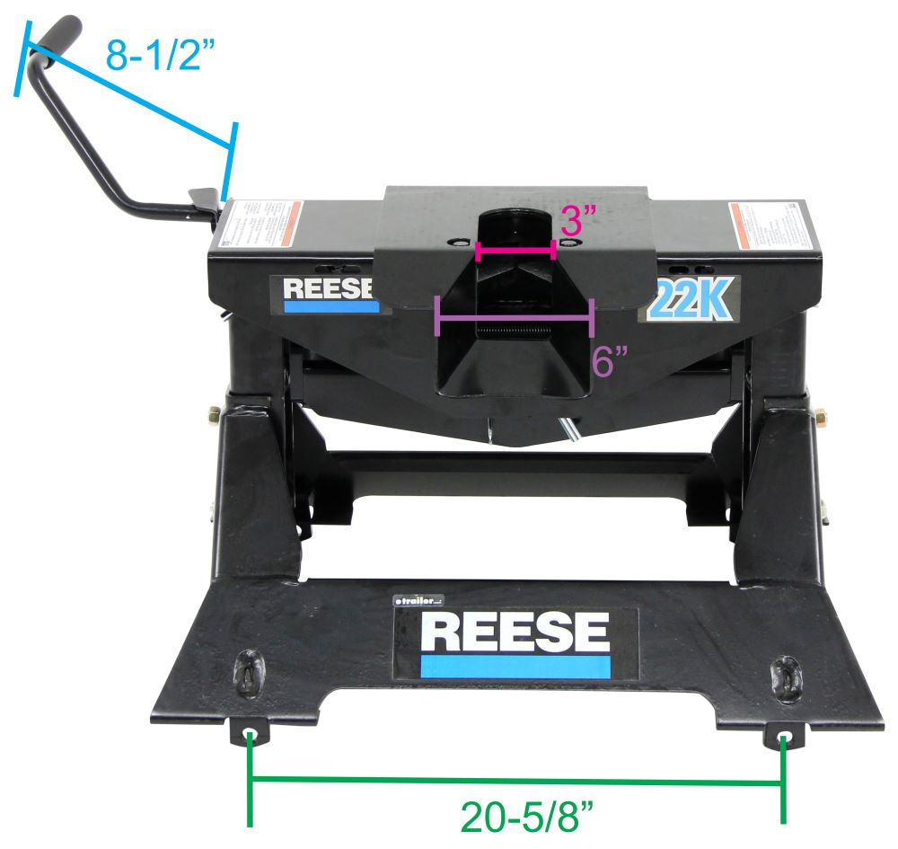 hight resolution of reese 5th wheel trailer hitch w wiring harness dual jaw 22 000 lbs reese fifth wheel rp30033