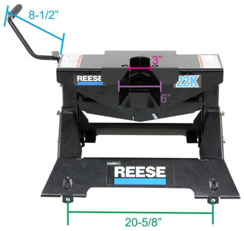 small resolution of reese 5th wheel trailer hitch w wiring harness dual jaw 22 000 lbs reese fifth wheel rp30033