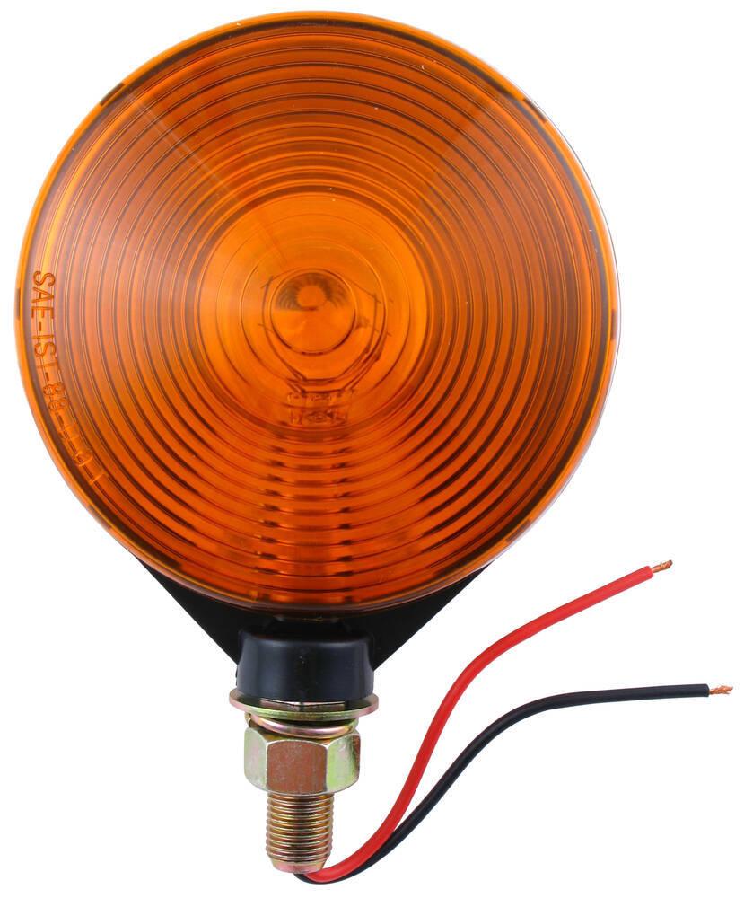 medium resolution of dual face trailer parking turn signal light post mount 4 round amber amber optronics trailer lights st52aa