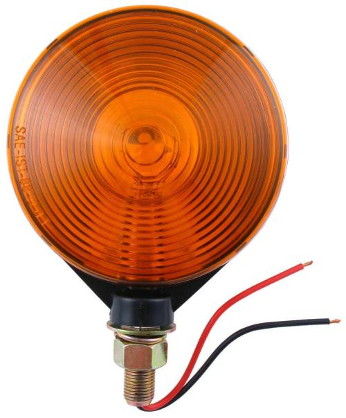 small resolution of dual face trailer parking turn signal light post mount 4 round amber amber optronics trailer lights st52aa