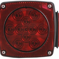 Led Trailer Lights Wiring Diagram Duo Therm Thermostat Combination Tail Light Submersible 6 Function 11 Diodes Passenger Side Optronics Stl8rb