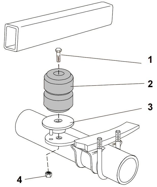 1994 GMC Safari Timbren Rear Suspension Enhancement System