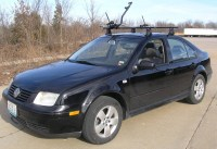 Subaru Impreza Thule Criterium Roof Mounted Bike Rack ...