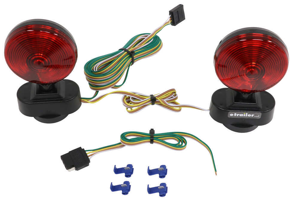 heavy duty magnetic tow lights - 20\u0027 wiring harness with 4-way