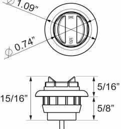 trailer lights ucl11ckb round optronics [ 870 x 1000 Pixel ]