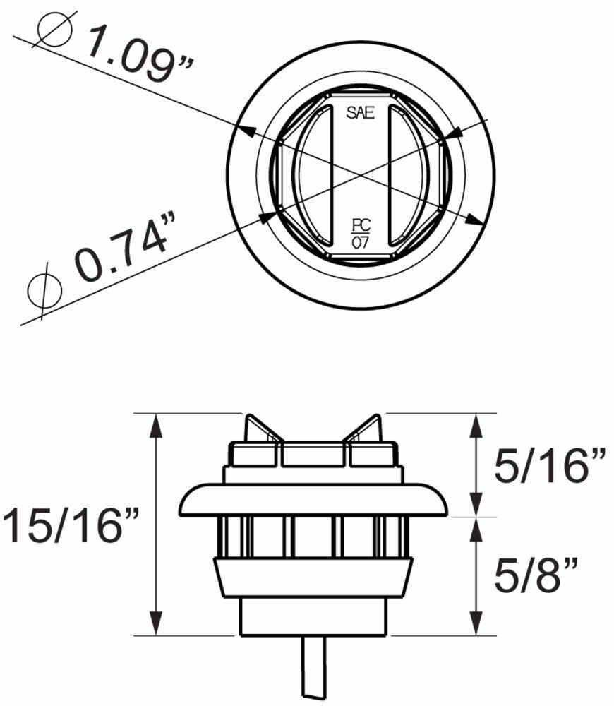 medium resolution of trailer lights ucl11ckb round optronics