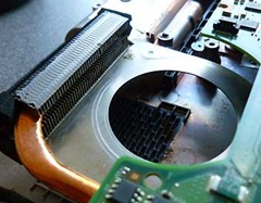 Compaq heatsink closeup