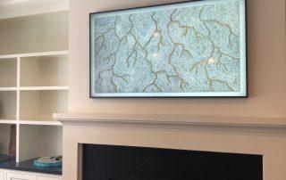 Samsung Art-Flat Screen TV Installation-Etronics of Illinois