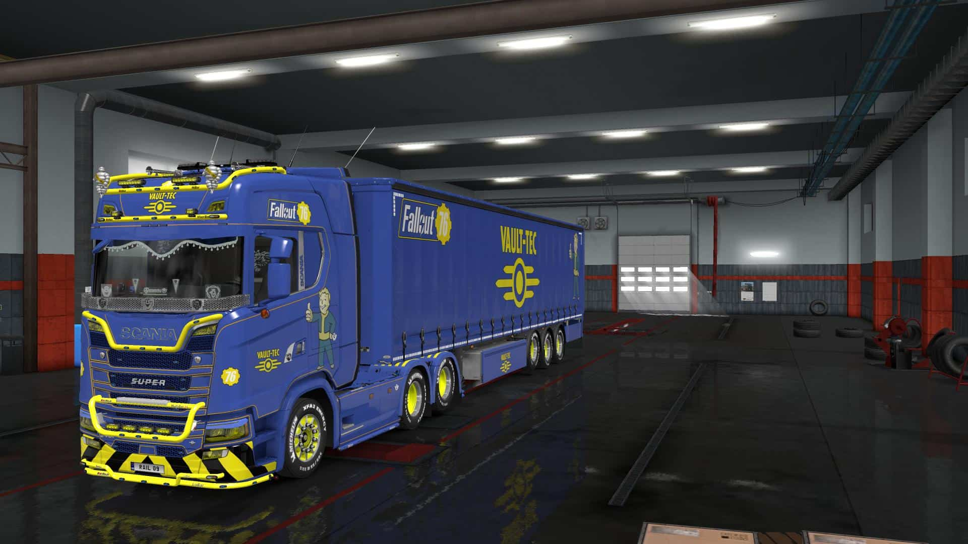 FALLOUT 76 TRUCK AND TRAILER SKIN PACK 133 ETS2 ETS2 Mod
