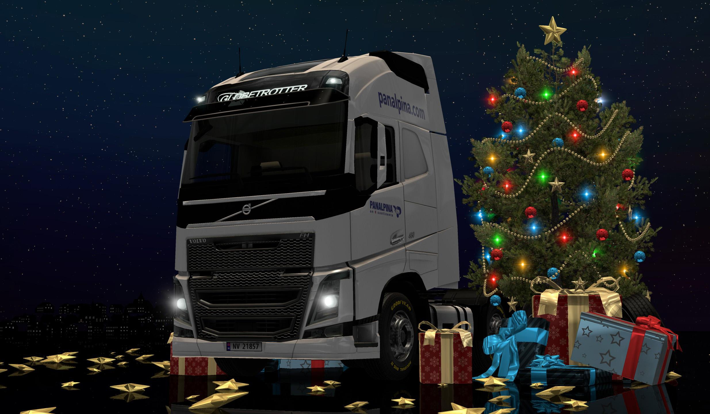 SCS X MAS BACKGROUND MOD ETS2 Euro Truck Simulator 2 Mods