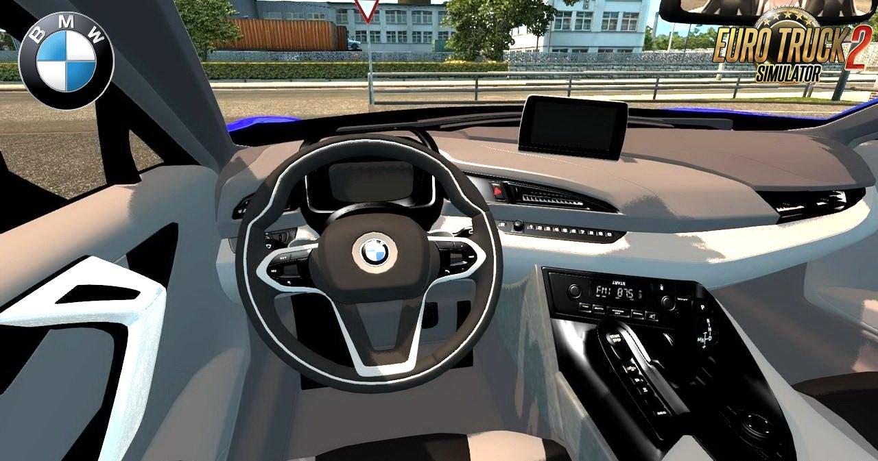 BMW I8  INTERIOR V30 128X CAR MOD Euro Truck